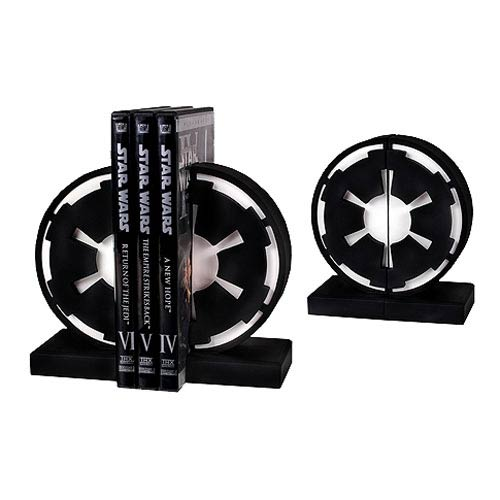 New Limited Certified Gentle Giant Star Wars Imperial//Rebel Logo Bookends