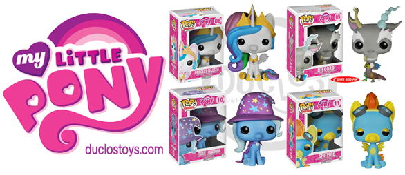 Funko Pop ! - My Little Pony - Princess Celestia , Trixie Lulamoon