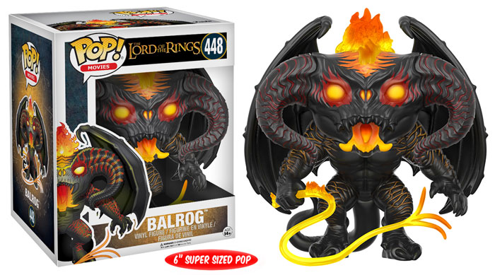 Funko Pop ! Movies 448 - Lord Of The Rings - Balrog (6 Inches Super Size)