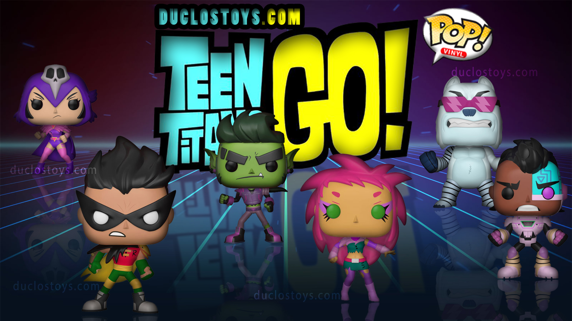 Duclos Toys - Funko Pop Television - Teen Titans Go! The Night Begins To Shine