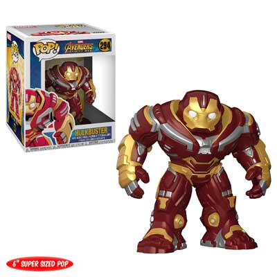 Pop ! Marvel 294 - Avengers- Infinity War - Hulkbuster (6 Inch Super Size Pop)
